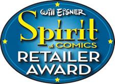 Will Eisner 'Spirit of Comics' Retailer Award Logo