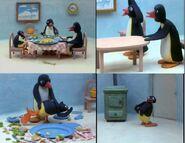 Pingu gets spanked comic strip