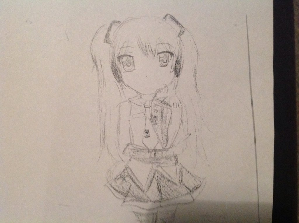 Line Drawing Wiki : Image a drawing of hatsune miku by olivia cavallaro g nihon