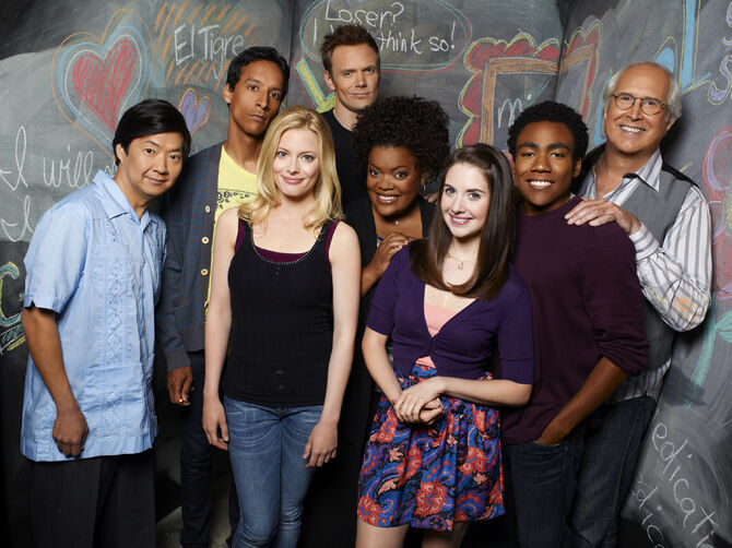 Community Season Two promotional cast photo 3
