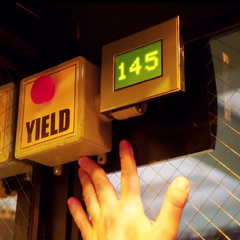 The yield button inside the chamber.