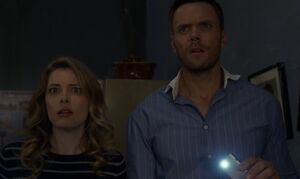 S05E13-Jeff and Britta flashlight