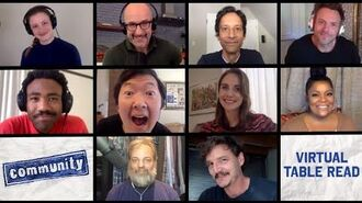The Cast of Community Reunites for Table Read stayhome withme