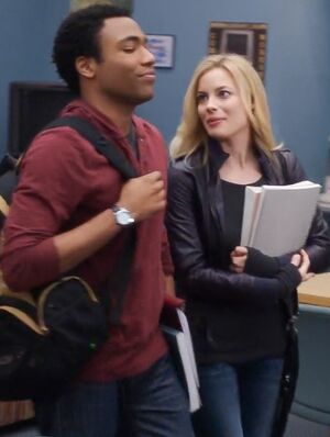 Troy and Britta in Season Two