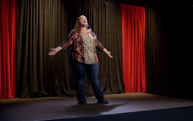 Vicki performing