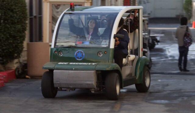 Campus security patrol cart