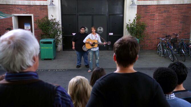Vaughn singing