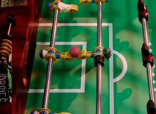 3X9 Foosball players