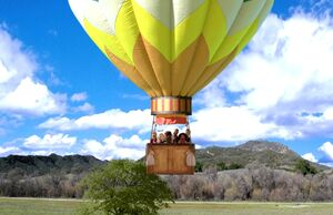 4X9 The balloon takes off