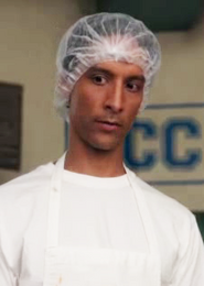 Cafeteria fry cook Abed