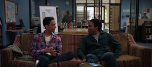 Troy and Abed writing a scrip