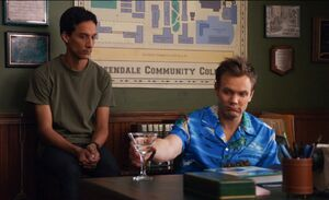 Jeff and Abed in his office