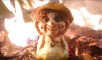 3X4 Troll doll on fire
