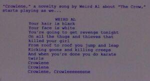 Crowlene lyrics