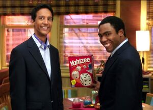 Troy and Abed saying Yahtzee