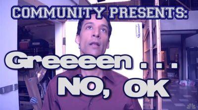 Community Presents Green No OK