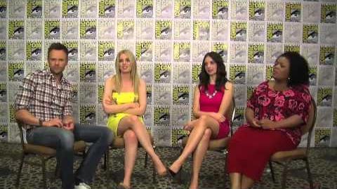 Comic Con 2012 - Joel McHale, Gillian Jacobs, Alison Brie and Yvette Nicole Brown talk 'Community' -
