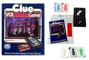 Clue VCR board game