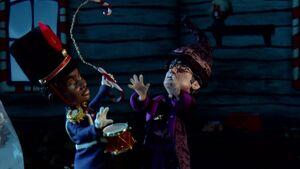 S02E11-Troy Soldier candy cane numchucks