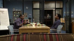 2X16-Troy and LeVar eating dinner