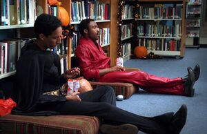 Troy and Abed Batman and donuts