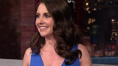 David Letterman - Alison Brie's Beautiful Feet