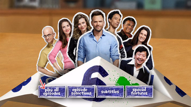 Community Season Six DVD menu screen