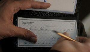 Pierce cheque