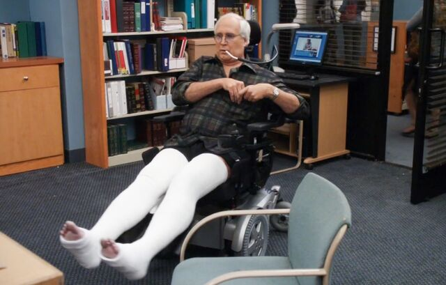 Pierce's wheelchair