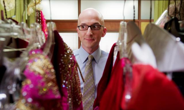 Dean deciding what to wear