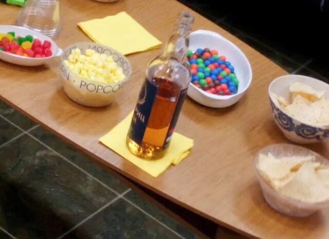 Serbian rum on table