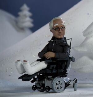 Animated Pierce with wheelchair