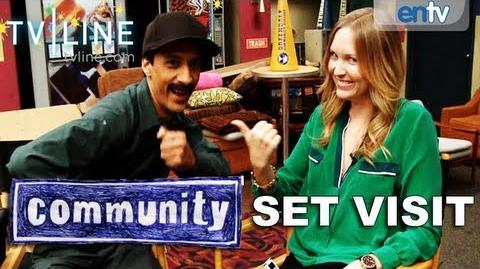 """Community"" Exclusive Greendale Set Visit Interviews & BTS With Joel McHale & The Study Group"