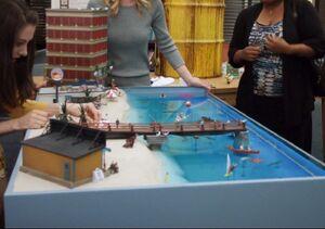 Oil spill Diorama