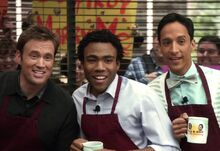Troy and Abed and Rich in the morning