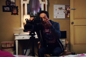 CA Abed filming Annie in her bedroom