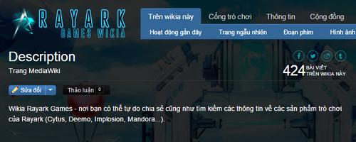 Đoạn mô tả (Wikia Rayark Games)