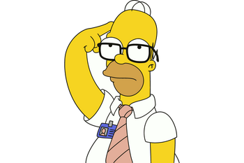 Home-Simpson-Thinking-Vector-Image