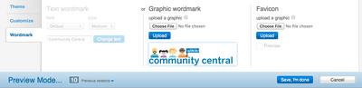 Theme designer - wordmark tab
