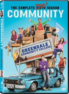 Community Season Six DVD front cover