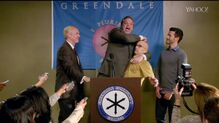 6x4 Dean Pelton comes out at the press conference