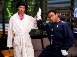 HFISSS Troy and Abed doing cosplay
