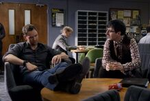 5X7 Jeff and Duncan in Teachers lounge