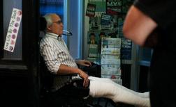 CW Pierce and his wheelchair