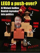 LEGO Poltics - Ai Weiwei bullies LEGO into his political activism