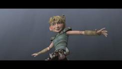 Astrid salvada por Chimuelo