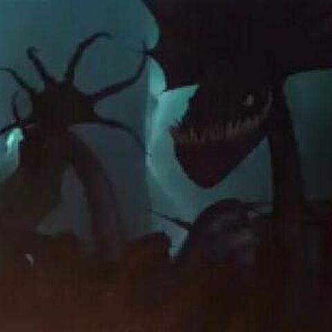 Al lado izquierdo se aprecia el Dragón 4, al derecho un Gruñón Tambaleante