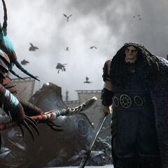 Valka enfrentandose contra Drago