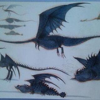 Se pueden apreciar al Dragón 2 y 4 en la esquina inferior izquierda, además del Cortalluvia y el Colmillo Afilado arriba de ellos