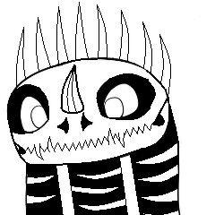 imagen base-furia nocturna estilo rompehuesos , se me ocurrio vestir a chimuelo como a un rompe huesos y esto fue el resultado , es lo mas que pude acer con paint ya que no tengo mas programas